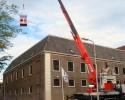 Dakdekkerskraan bij de Librije in Zwolle